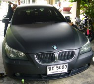 BMW E60 FULL WRAP BLACK MATTE