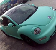 VW New Beetle Full wrap Mint Colors