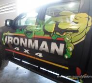 BT 50 IRON MAN Full Wrap ดำด้าน + แต่งลาย Iron Man