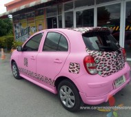 NISSAN March_PINK LADY เสือดาว