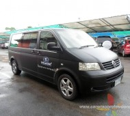 VW caravelle FULL WRAP Black Matte