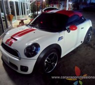 Mini Cooper Cupe R58 Red Roof Viper Stripes