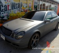Benz E220 CDI FULL WRAP MATTE GRAY