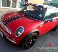 Mini Cooper Red seed Wrap แต่งลาย Union Black Jack