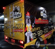 Vehicle Marketing Wrap PET Pirate