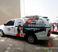 Wrap รถโฆษณาบริษัทผู้ผลิต และนำเข้าเครื่องจักรปักผ้า 6 คัน