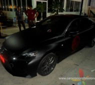 Lexus IS250 Full Wrap Black Matte