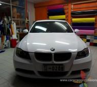 BMW E90 Full Wrap เปลี่ยนสี ขาวเงาทั้งคัน by Oracal