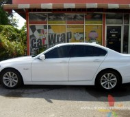 BMW 5 Series (E60) Full Wrap White