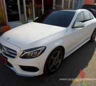 Benz C 300 Full Wrap Gloss White 3M1080