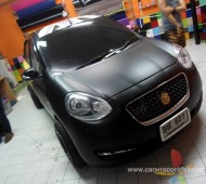 Nissan March Full Wrap Black Matte