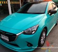 New Mazda2 Full Wrap สีเทอร์คอยส์