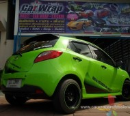 MAZDA 2 FULL WRAP GREEN