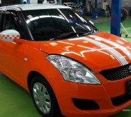 Suzuki Swift Orange Gloss Full Wrap