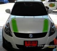 SUZUKI SWIFT คาดลายสีเขียว