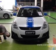 เพิ่มลุ๊คให้กับรถที่คุณรัก Suzuki Swift คาดลายรอบคัน พร้อมตัวเลขทีชื่นชอบ