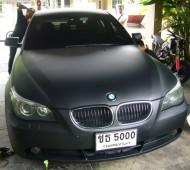 BMW E60 FULL WRAP BLACK MATTE