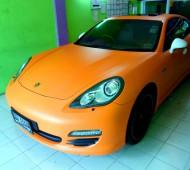 Porsche panamera s Full Wrap Orange Matte