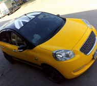 Nissan March Full Wrap Jaune Yellow Gloss