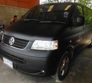 VW CARAVELLE FULL WRAP BLACK MATTE