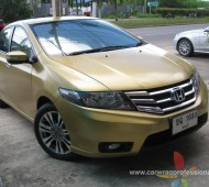 Honda CITY FULL WRAP ทองอร่าม ORACAL651