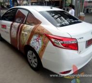 Vehicle Marketing Wrap Vios Vision Glass